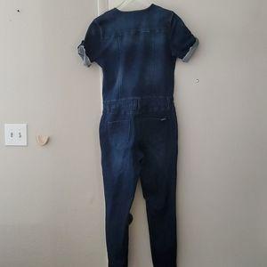 bebe Pants & Jumpsuits - Bebe  Denim Jumpsuit